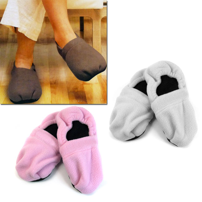 Microwave Heated Slippers Available In Pink And Grey
