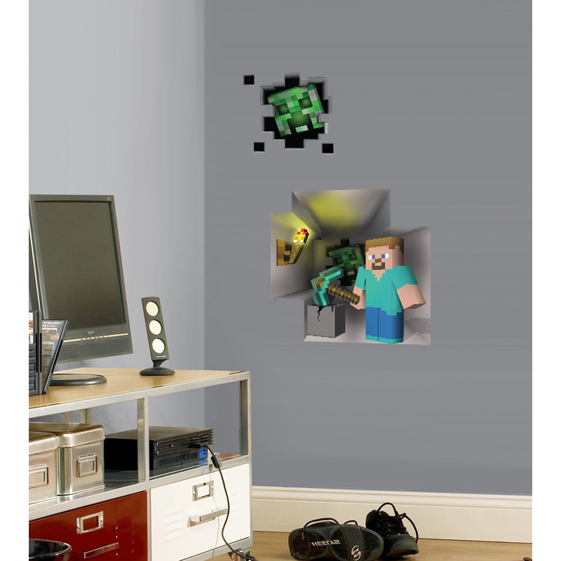 Window To Minecraft Wall Cling Set - SHIPS FREE!