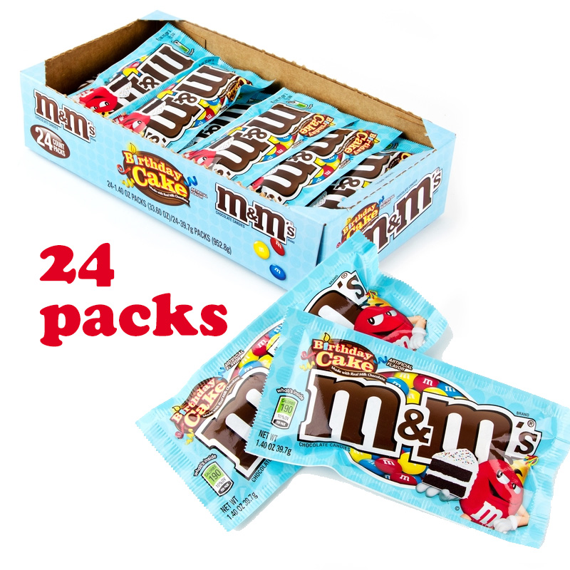 24pk Mms Birthday Cake Flavored Candy 1 Case For 15 Or 2 For