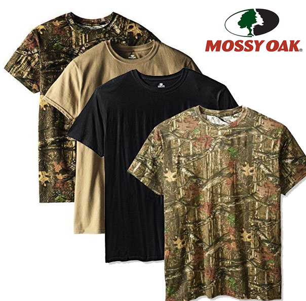 4 Pack Of Mossy Oak Moisture Wicking Cottont Shirts Just