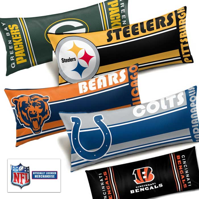 Officially Licensed NFL Team Body Pillow – One for $20 or Two for $35, ships free by Jammin Butter