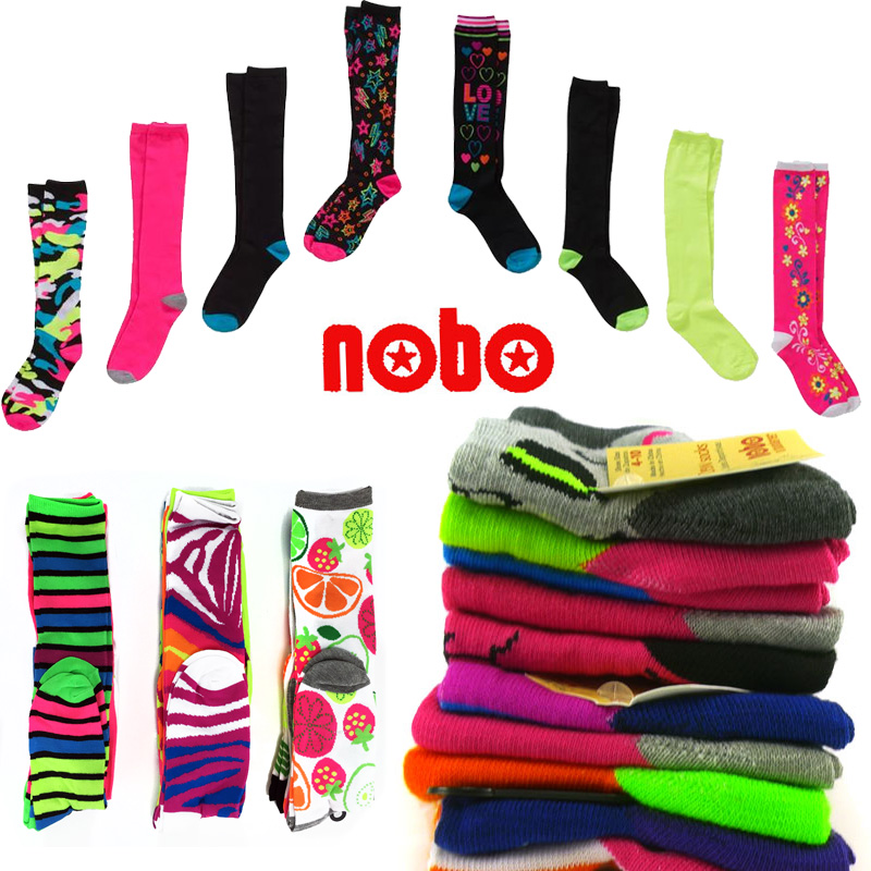 8 pairs of Assorted Funky Knee High Socks by No Boundaries