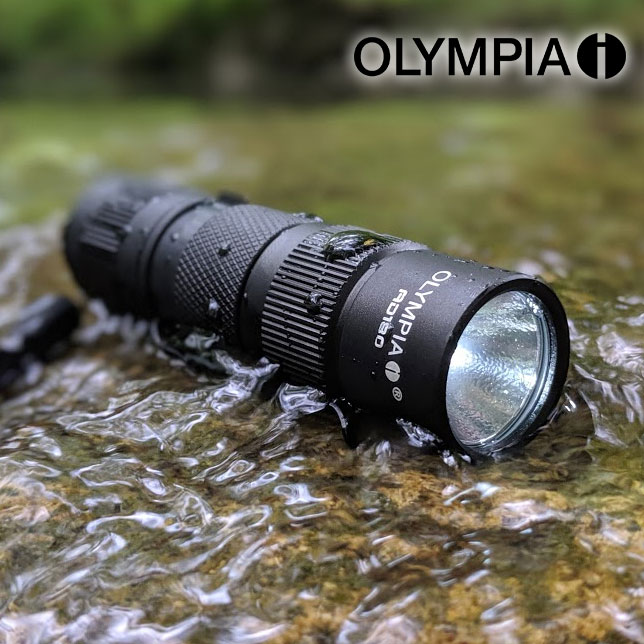 CLEARANCE - (GREAT GIFT FOR DAD TOO!) - Olympia AD180 180-Lumen TRULY WATERPROOF AD Series High-Performance CREE LED Compact Flashlight - Again, not water resistant, waterproof up to 6 feet of submerging! BATTERIES INCLUDED! Currently $30 On Amazon with 5-Star Reviews! Order 2 for just $7.99 each! SHIPS FREE!