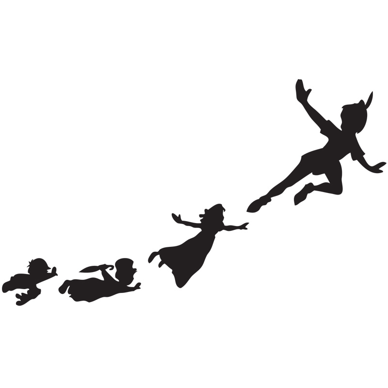 Peter Pan Flying Shadows Set of Wall Clings - SHIPS FREE ...