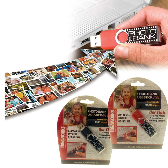 Photo Bank USB Flash Drive – $4.99 ships free by Jammin Butter