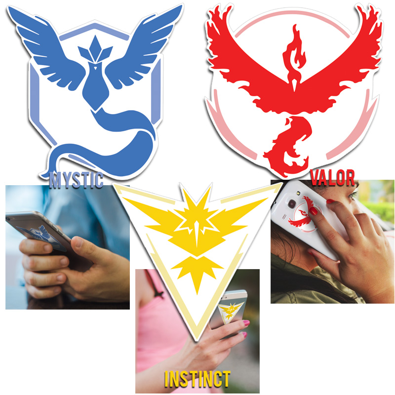 Pokemon GO Team Decals Set - Show Your Team Pride On Your Phone, Laptop, Car or ANYWHERE! - SHIPS FREE!