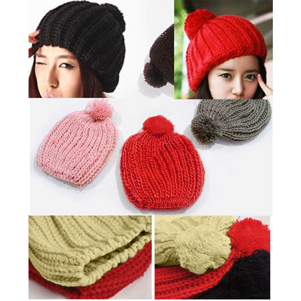 Set-of-2-Chunky-Knit-Winter-Beanies