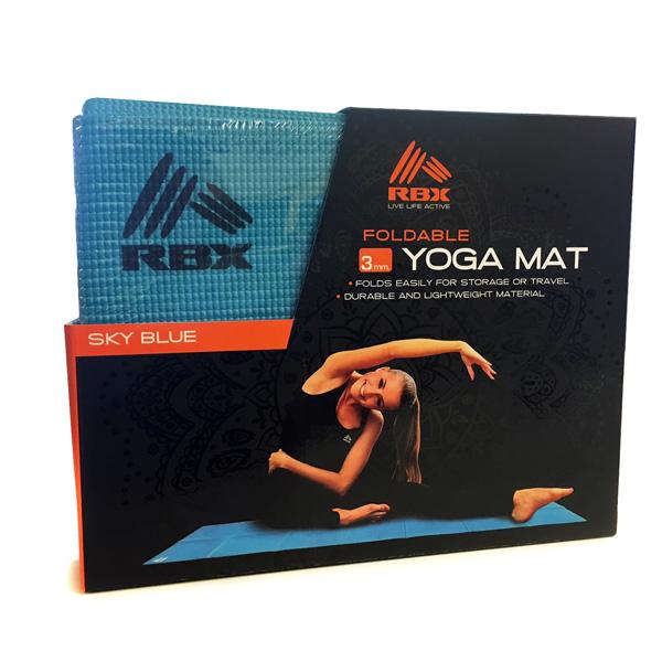 RBX Foldable 3mm Yoga Mat