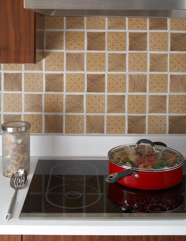 Decorative do it yourself backsplash tiles in sandstorm for Do it yourself kitchen backsplash