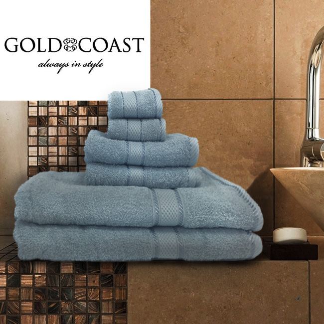 Gold Coast 100% Egyptian Cotton 6pc Towel Set