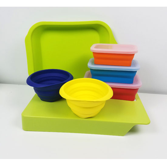 10 Piece Silicone Collapsible.