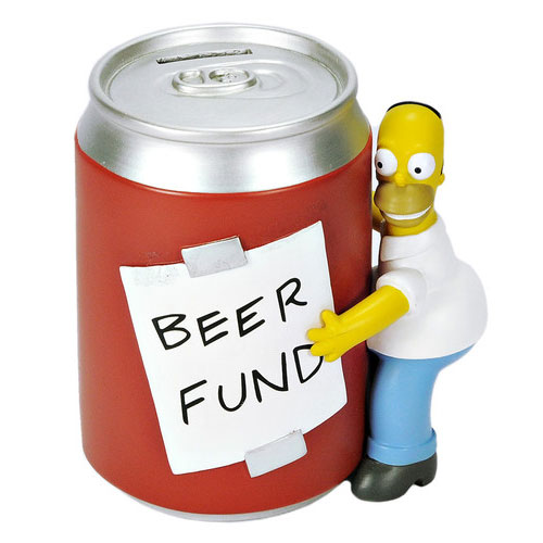 The Simpsons Homer And Beer Can Coin Bank Ships Free