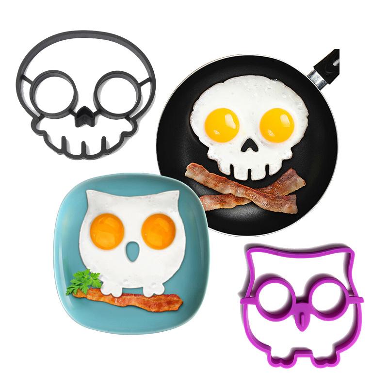 2-pc-Skull-and-Owl-Fried-EggPancake-Molds
