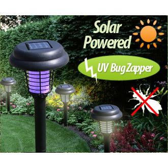 Solar LED Garden Bug Zapper -.