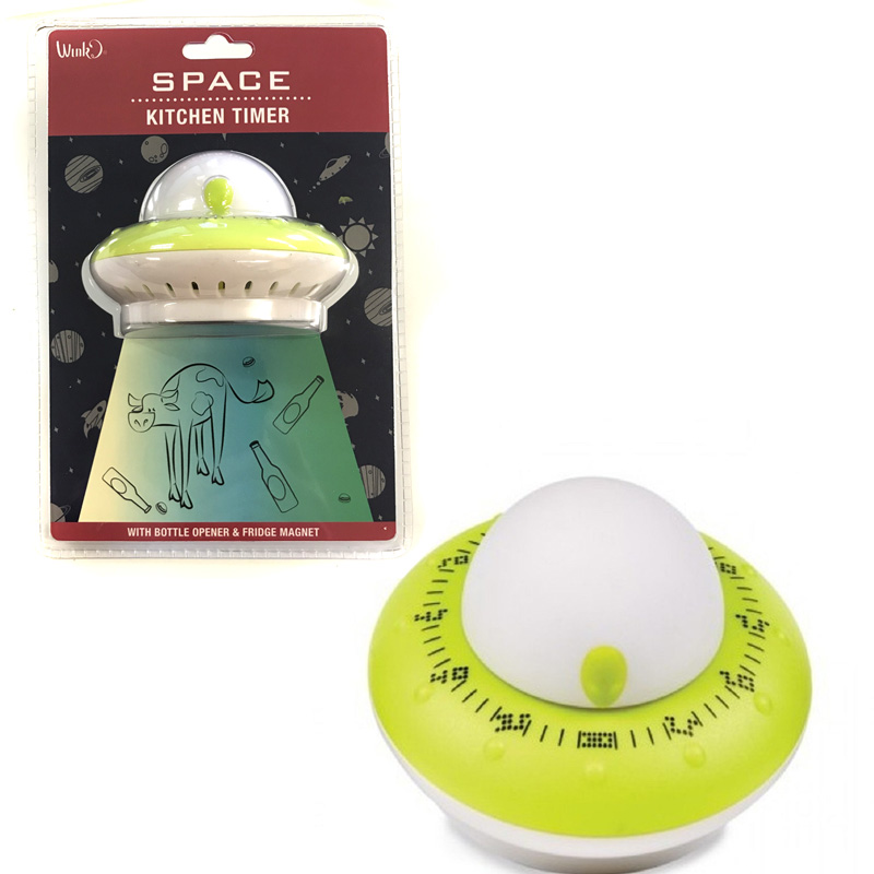 Flying Saucer Kitchen Timer w.