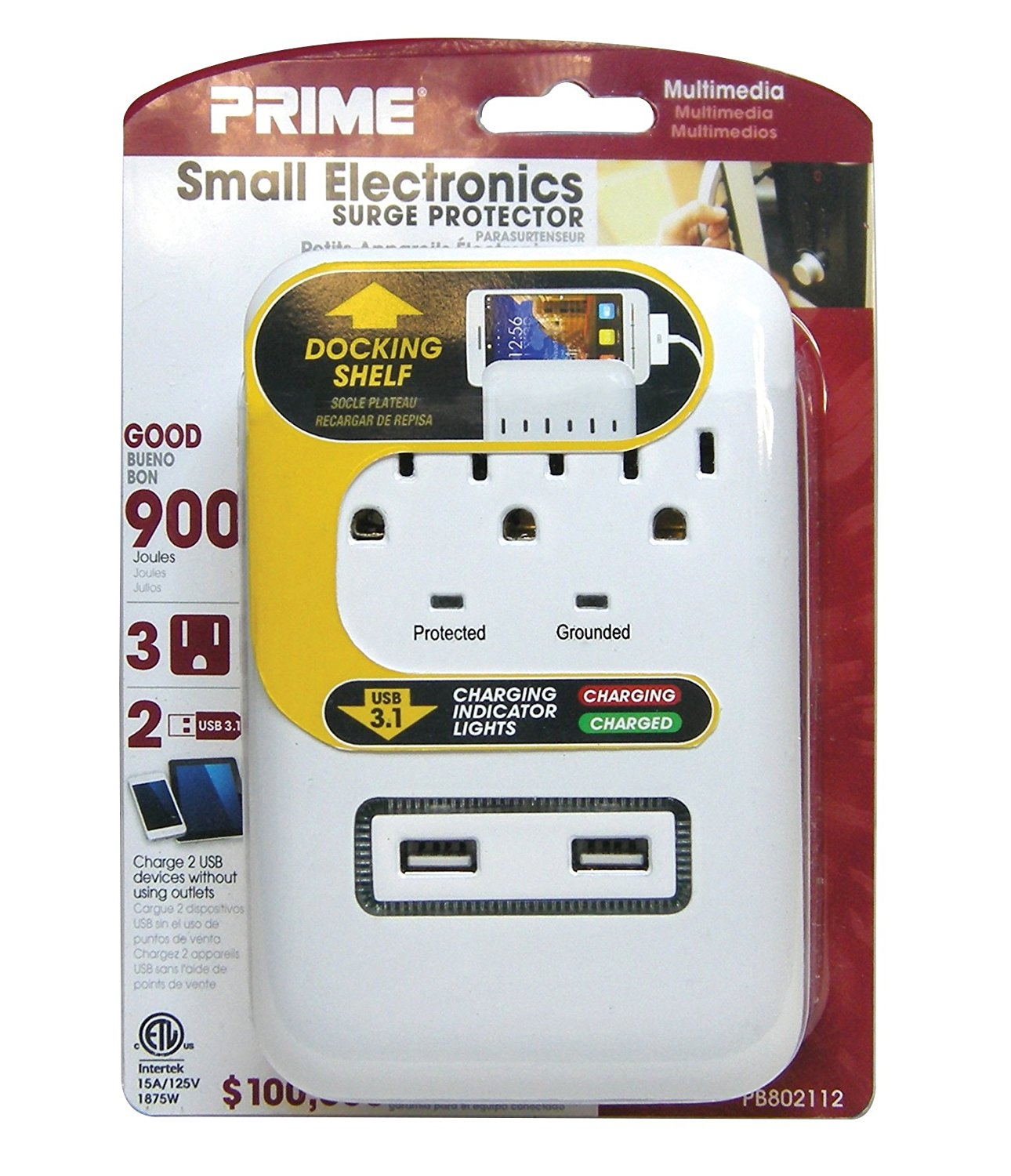 Prime High Speed 5 Port (2 USB...