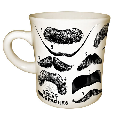 Great Moustaches Mug - 14 Of The World's Most Awesome Staches!