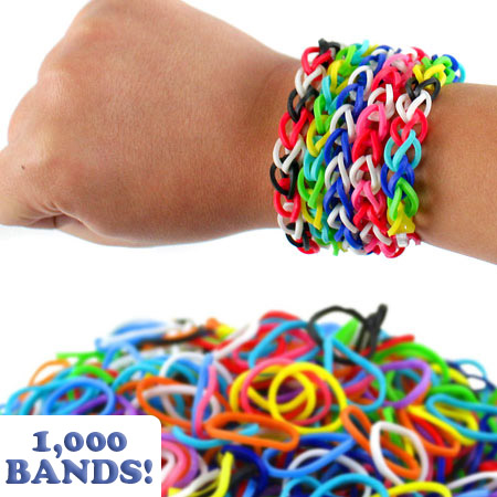 1000 Pack of Loom Bands - SHIPS FREE!