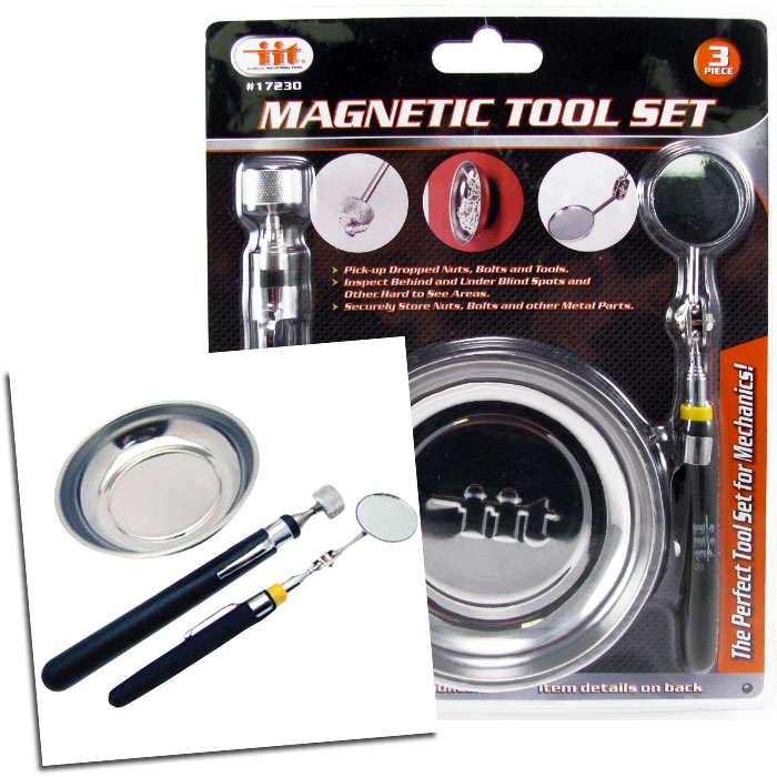 3 Piece Magnetic Tool Set - Perfect For Mechanics and Handymen Alike! - SHIPS FREE!
