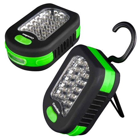 NEW STYLE! 27 LED Work Light With Hook, Magnet & Kickstand - Batteries Included!
