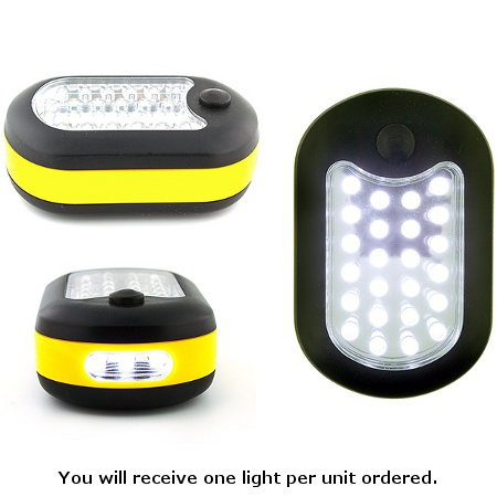 27 LED Worklight with Built In Hanger, Magnet & Batteries