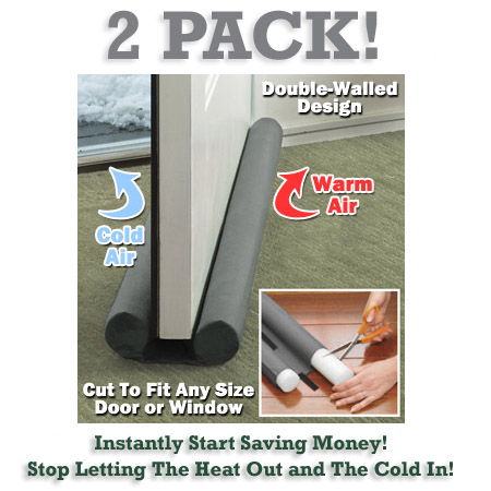2 Pack of Twin Draft Blockers - Keep in the heat / air & save BIG on electric bills all Winter AND Summer long! SHIPS FREE!