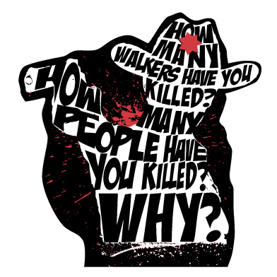 The Walking Dead 3 Questions Vinyl Decal - SHIPS FREE!