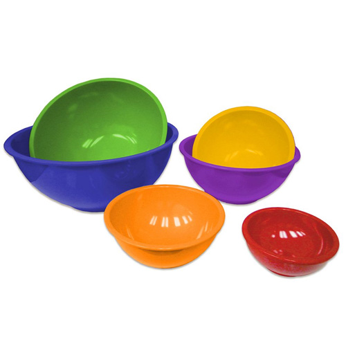 Gourmet Home Products 6-pc. Multicolor Mixing Bowl Set