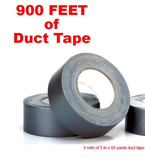 5 Pack of Duct Tape - 900 Feet of Duct Tape