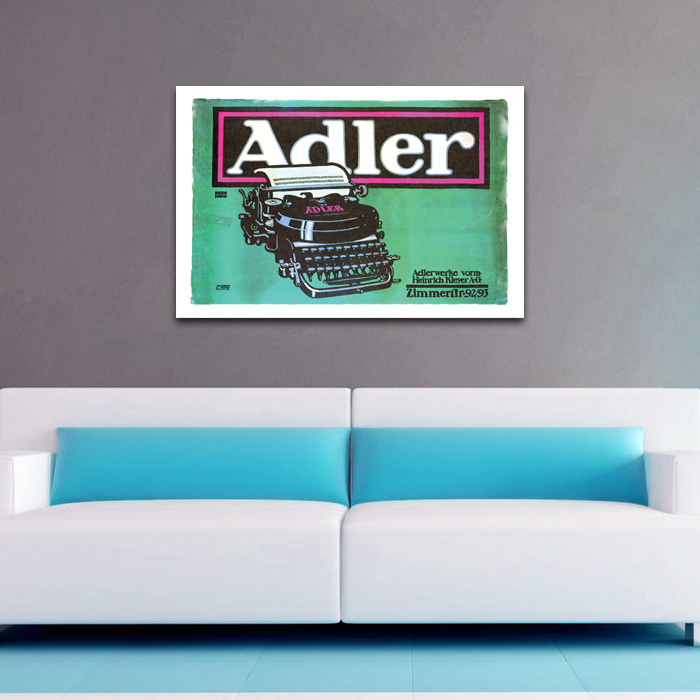 Adler Typewriter Vintage Ad - POSTER (2 sizes available) - SHIPS FREE!