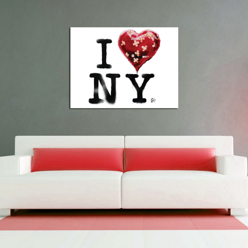 Banksy Loves NY - Available as a Poster or Vinyl Decal - SHIPS FREE!