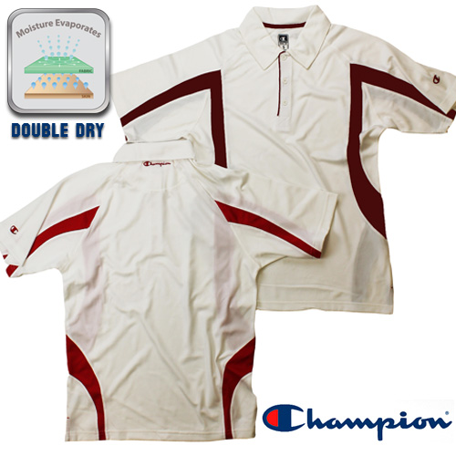 Champion Men's Double Dry Polo - Stay Dry When You're Active! - SHIPS FREE!