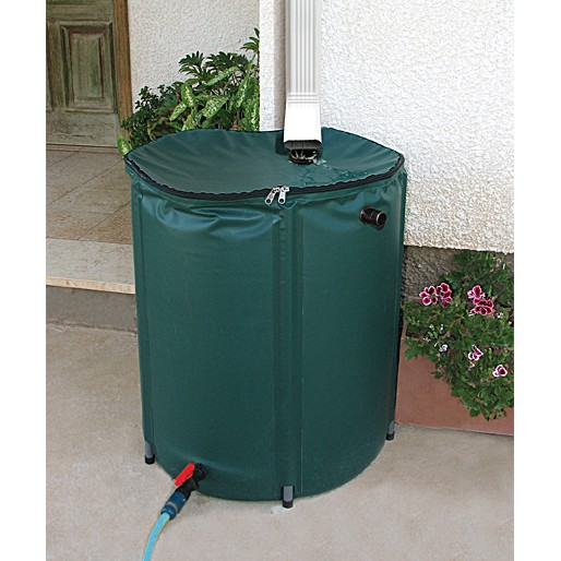 43 Gallon Collapsible Rain Barrel w/ Removable Filter