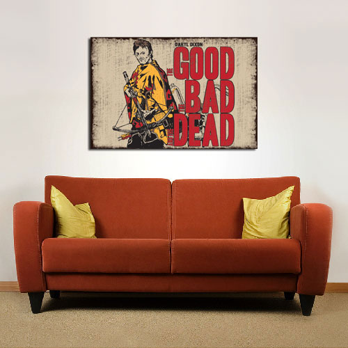 Daryl Dixon: The Good, The Bad and the (Walking) DEAD - Available as a Poster or Vinyl Decal - SHIPS FREE!