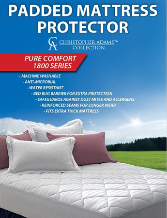 Padded Water Resistant Mattress Protector - Available in Twin, Full, Queen & King!