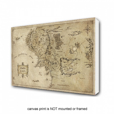Middle Earth - The Hobbit Inspired Canvas Print
