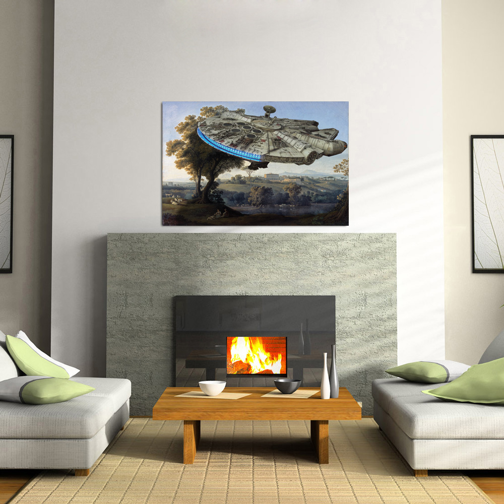 Star Wars Fine Art - Millennium Falcon Edition - POSTER (2 sizes available) OR Canvas - SHIPS FREE!