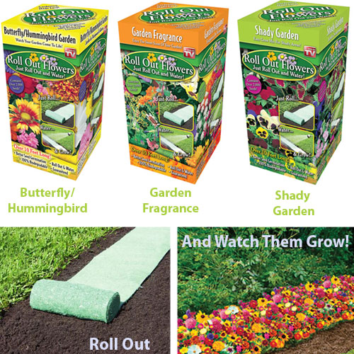 Roll Out Flowers - Just Roll, Water and Watch Them Grow