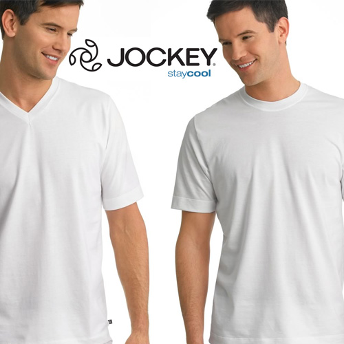 Jockey Staycool T-Shirt - 2 pack - Crew or V Neck