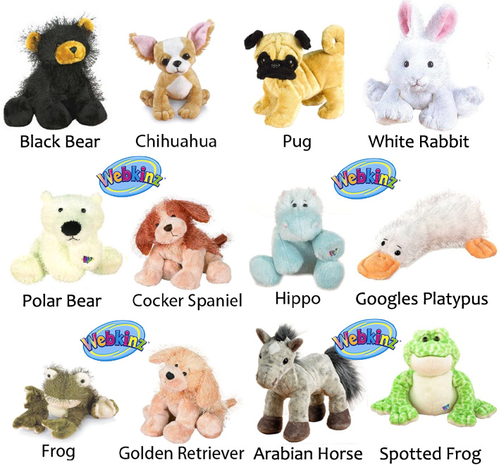 Webkinz Plush Pets 12 Pack Bundle