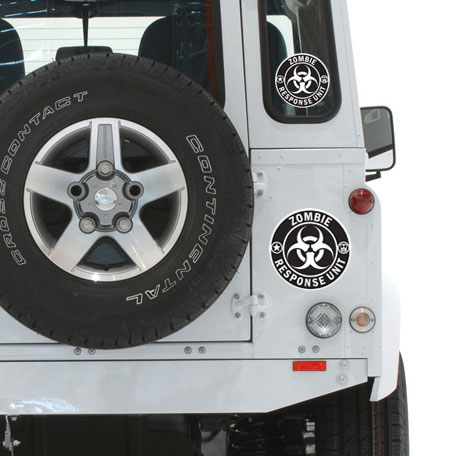 Zombie Response Unit Vinyl Decal - 2 Sizes - Ships Free!