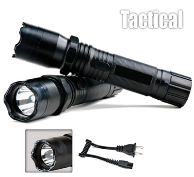 Tactical Aluminium Rechargeable Stun Gun / Flashlight