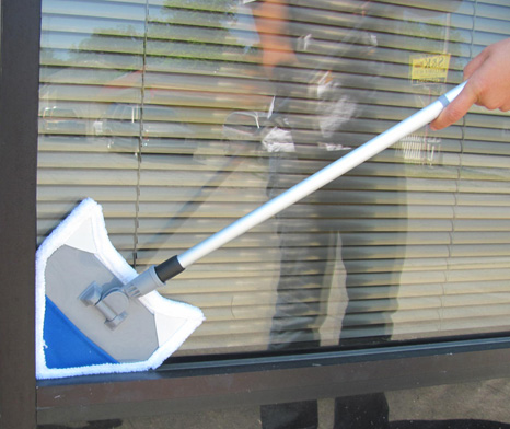 Ships Free - Telescoping Microfiber Angle Mop / Surface Cleaner With 3 Bonus Microfiber Pads