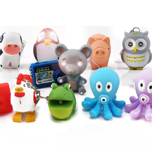 Adorable Animal Pals (and more) LED Key Chains w/ Sound - Choose Your Favorite! SHIPS FREE