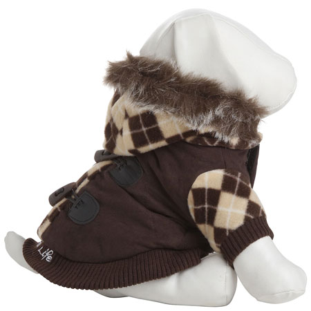Petlife Designer Patterned Jacket with Removable Hood Featuring Thinsulate Insulation