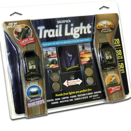 Backpack Trail Lights - 2 Lights That Clip On & Lock Anywhere!