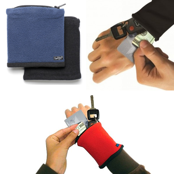 Banjees Reversible Wrist Wallet - Easily store your keys, credit cards & more while working out and on the run! SHIPS FREE