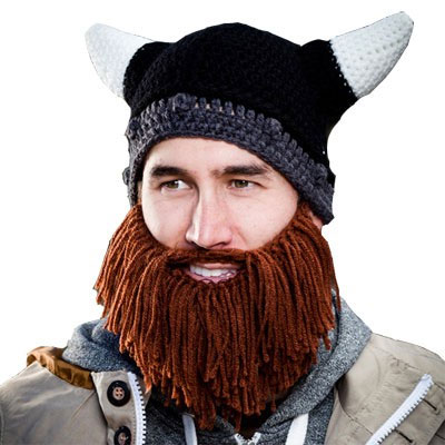 Barbarian Pillager Knit Cap - Stay Toasty, Wear a Beard!