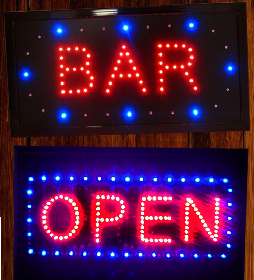 Animated LED Open Sign / Bar Sign