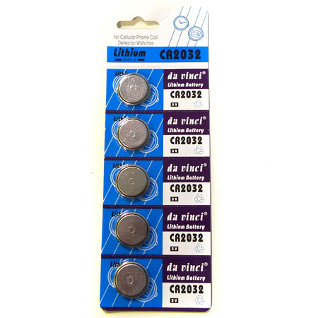 5 Pack Cr2032 Watch Remote Button Cell Battery 3V - SHIPS FREE!